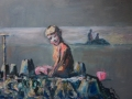NOW SOLD Can't Stop the Tide. Oil on canvas. Unframed. Kevin Weaver