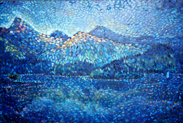 Dawn Bather in Derwent Water, Keswick £800 PAINTINGS FRAMED UNLESS STATED
