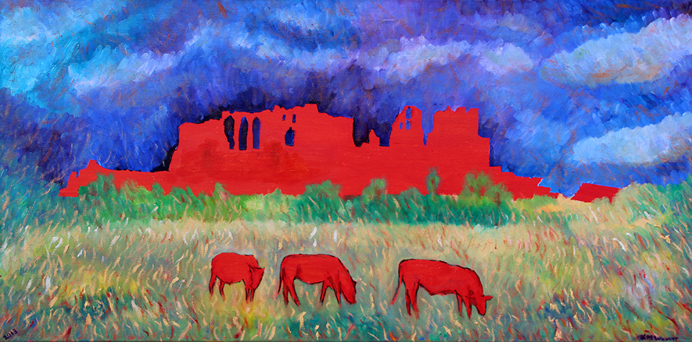 Kenilworth Castle, oil on canvas. Kevin Weaver. £750 PAINTINGS FRAMED UNLESS STATED