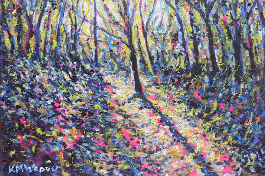 Lonning Light by Loweswater 30 x 43 cm £250 PAINTINGS UNFRAMED UNLESS STATED