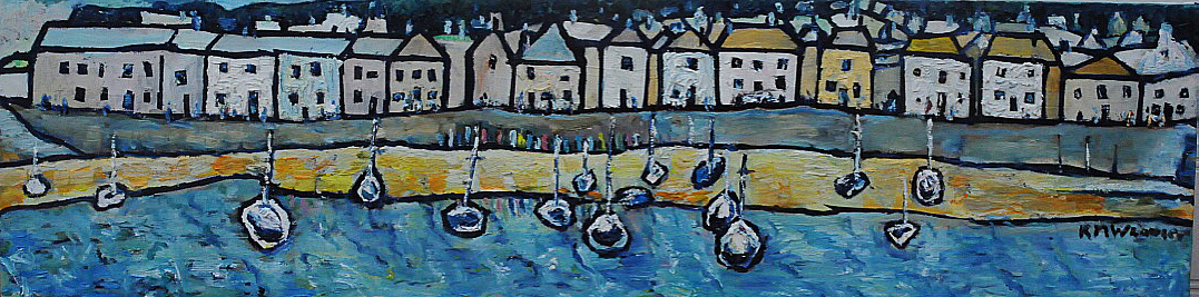 NOW SOLD Mousehole Harbour Boats Cornwall