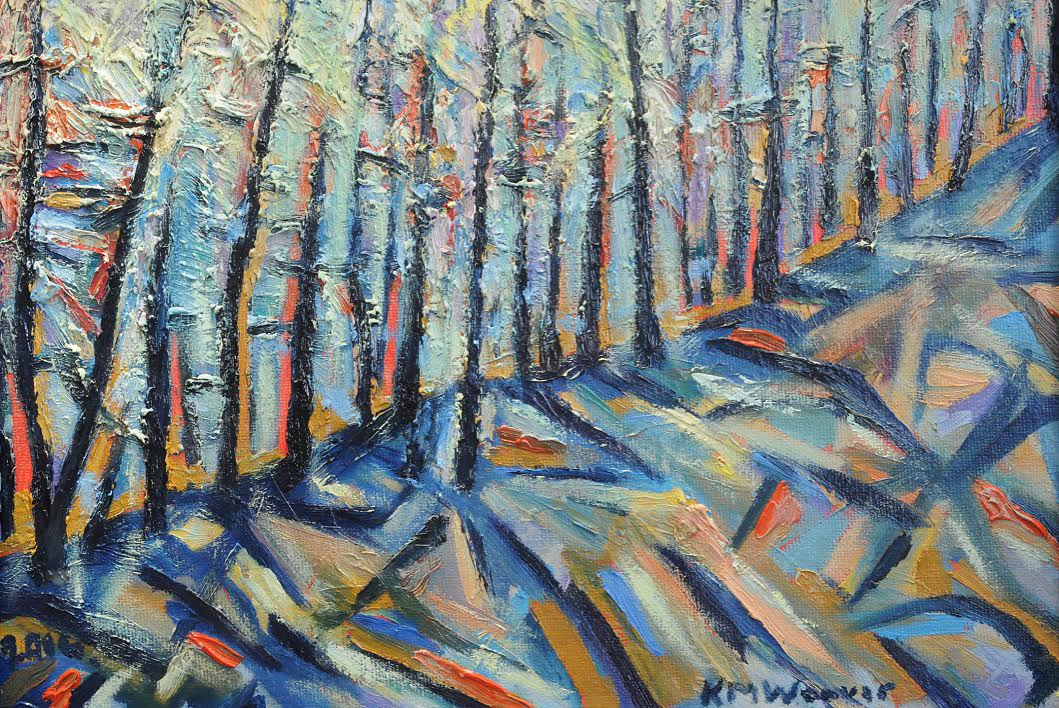 Thirlmere Forest Sunset, oil on canvas. 30 x 23 cm £250 PAINTINGS UNFRAMED UNLESS STATED