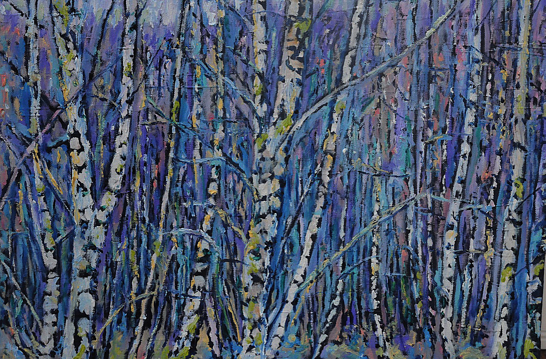 Winter Birch Trees Ennerdale £450 PAINTINGS UNFRAMED UNLESS STATED