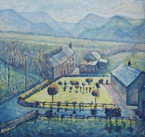 Yellow Garden Frizington Ennerdale £900 PAINTINGS FRAMED UNLESS STATED