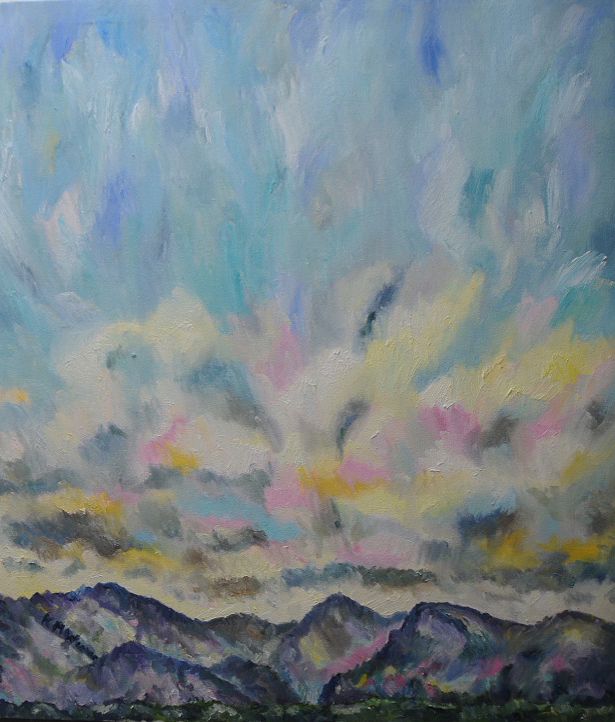 Big Summer Skies, Ennerdale by Kevin Weaver. Oil on canvas.  95 x 83 cm £830