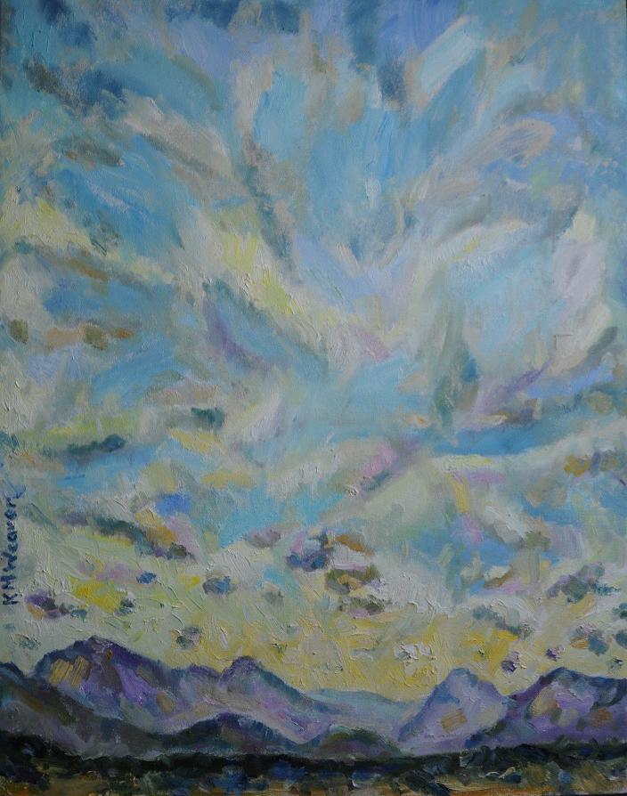 Easy Like Sunday Morning, Ennerdale by Kevin Weaver. Oil on canvas. 81.5 x 64 cm £600 unframed