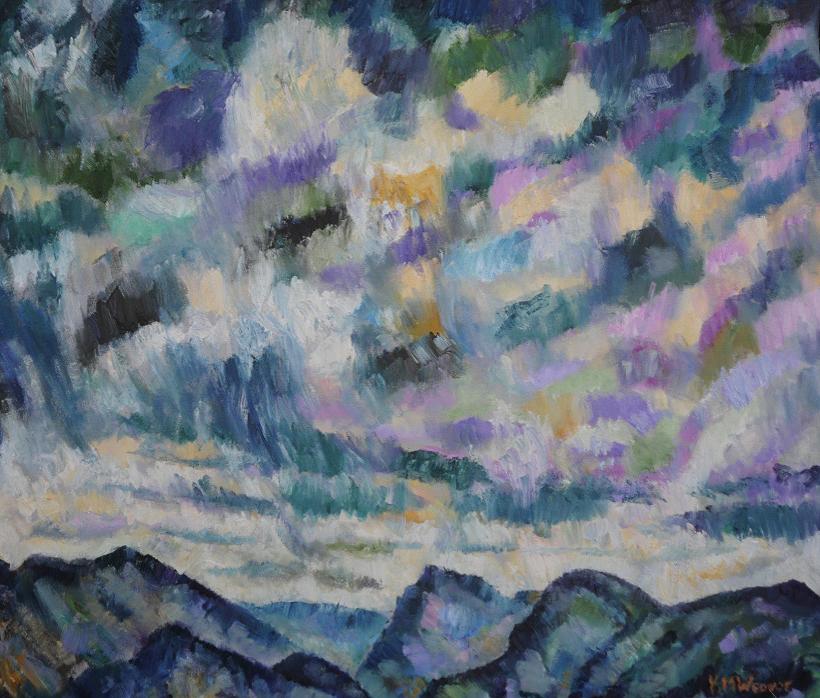 Darker Ennerdale Skies by Kevin Weaver. Oil on canvas.  94 x 84 cm  £865