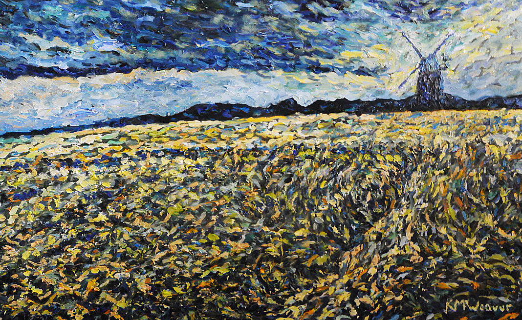 Fields of Barley, Norfolk. 70 x 42 cm £500 PAINTINGS UNFRAMED UNLESS STATED
