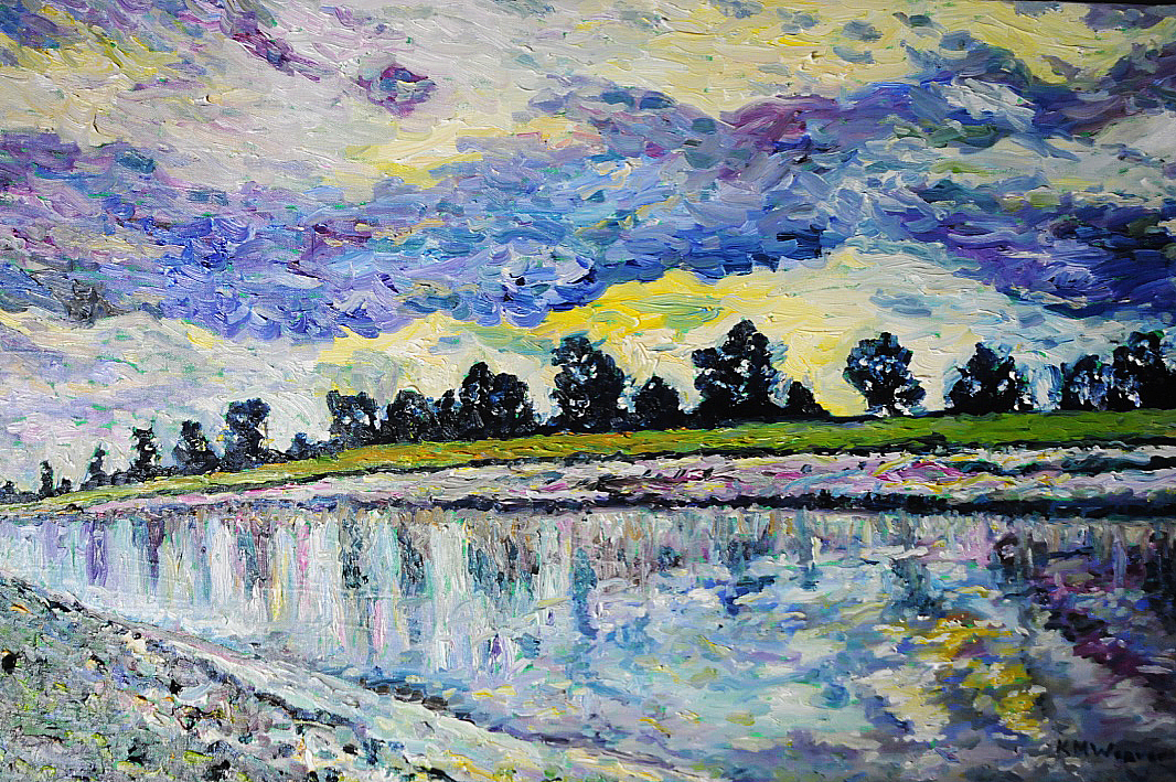 Great Ouse flows to The Wash 85 x 52 cm £800 PAINTINGS UNFRAMED UNLESS STATED