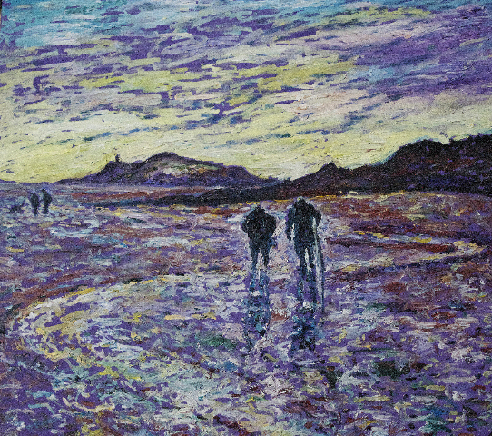 Looking for Lugworms on the Beach, Dumfries and Galloway PAINTINGS UNFRAMED UNLESS STATED