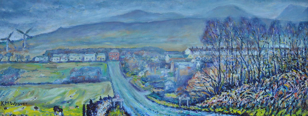 Moresby Park Oil on canvas by Kevin Weaver 35 x 92 cm £450 framed