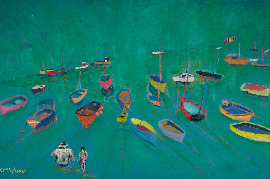 Daddy's Little Girl, Mousehole Harbour 91 x 61 cm Price £400 unframed