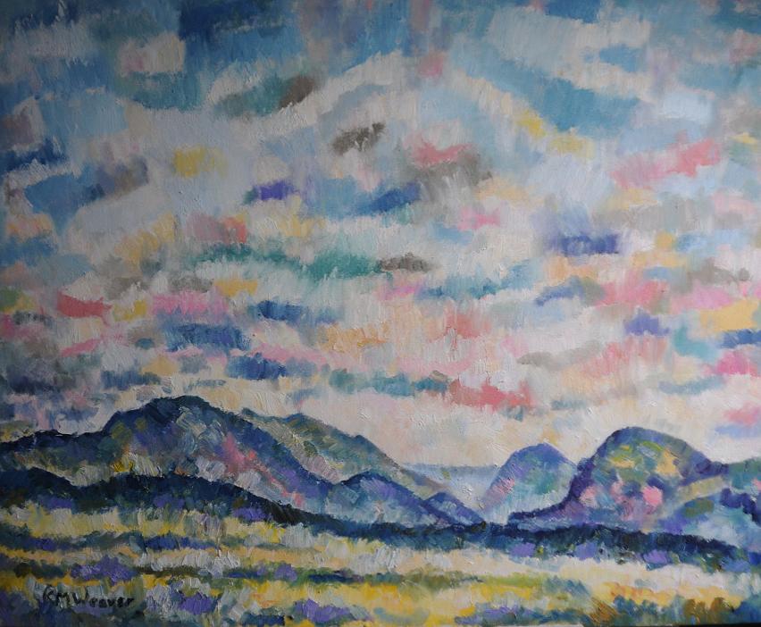 Ennerdale Summer Skies - Oil on canvas by Kevin Weaver 113 x 94 cm £850 unframed