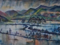 Bassenthwaite Floods Oil on canvas by Kevin Weaver 90 x 60 cm £850