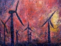 Wind Turbines, Sunset, Cockermouth PAINTINGS UNFRAMED UNLESS STATED