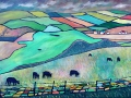 NOW SOLD Cows at St Bees, oil on canvas. Kevin Weaver.