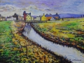 Allonby Beck. Acrylic on canvas board by Kevin Weaver, 50 X 60 cm £250 framed