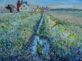 'View from a bridge, Allonby.' 76.2 x 50.5 cm. £495 framed. Kevin Weaver.