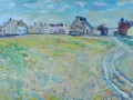 Allonby Summer. Oil on canvas by Kevin Weaver 30 x 90 cm £350 unframed