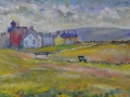 NOW SOLD Allonby Afternoon. Oil on canvas by Kevin Weaver 36 x 110 cm £450