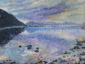 NOW SOLD Bassenthwaite Dawn oil on canvas by Kevin Weaver 50 x 60 cm