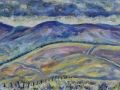 The Cairngorms, Scotland's Wasteland. Oil on canvas by Kevin Weaver 30 x 80 cm Price £500 framed