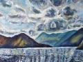 NOW SOLD Ennerdale Clouds oil on canvas