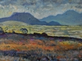 NOW SOLD Farmhouse view of Ennerdale. Oil on canvas by Kevin Weaver 80 x 30 cm