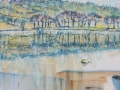 NOW SOLD Esthwaite Lake, Hawkshead Oil on canvas by Kevin Weaver 30 X 90cms