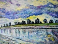 Great Ouse flows to The Wash 85 x 52 cm £800 framed. Kevin Weaver.