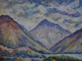 Great Gable at the heart of Wasdale Oil on canvas by Kevin Weaver 43 x 54 cm Price £240