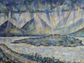 'Mountains of Mull II' Oil on canvas by Kevin Weaver 66 x 40 cm Price £400 framed