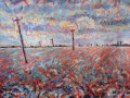 Cabbage Field near Moulton, Lincolnshire £450 50 cm x 60 cm PAINTINGS UNFRAMED UNLESS STATED