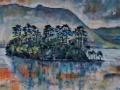 NOW SOLD 'Rydal Reflections' Oil on canvas by Kevin Weaver 92 x 44 cm
