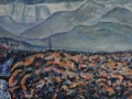 The Light, Keswick.  Oil on canvas by Kevin Weaver 49  x 100 cm £500 framed