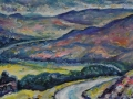 The Wasteland, Cairngorms, Scotland. Oil on canvas by Kevin Weaver 24 x 57cm Price £200 framed