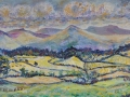 View from Hawkshead Hill Oil on canvas by Kevin Weaver 31 x 53 cm £190 unframed