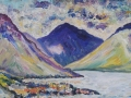 Shadow of Gable, Wasdale Oil on canvas by Kevin Weaver 30 x 80 cm Price £ £240 unframed