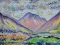 Wasdale Morning Oil on canvas by Kevin Weaver 30 x 23 cm Price £110