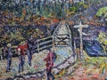 Which Way, Grasmere Walkers - Oil on canvas by Kevin Weaver 91 x 35.5 cm £495 unframed