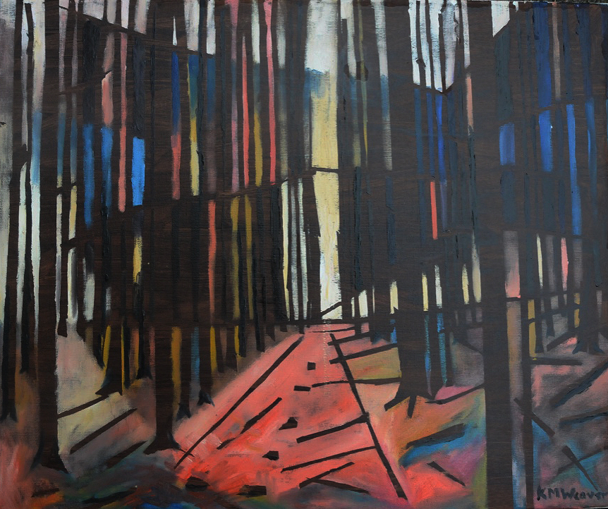 Tracks through the Forest Oil on canvas by Kevin Weaver 50 x 60 cm £300