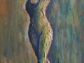'Ballerina, Bosnia' Oil on canvas 90 X 30 cm £270 (unframed)