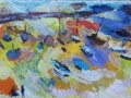 Tide is Out Mousehole Harbour £400 Oil on glass 35 x 58 cm Kevin Weaver Oil on Glass Paintings