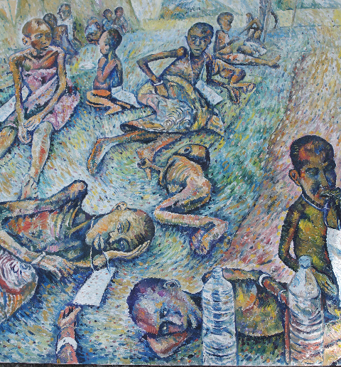 Suffer The Children, Rwandan Orphanage, Zaire (painted 2015)