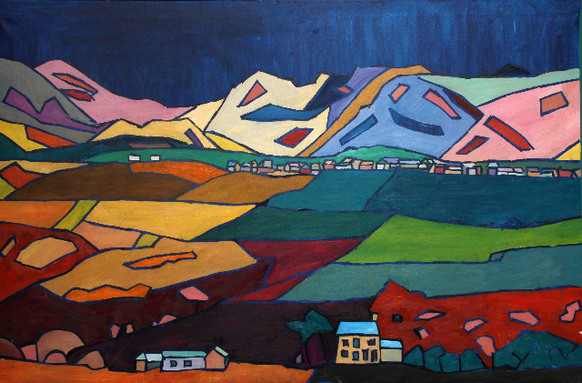 """""""Red Cow Below Frizington by Kevin Weaver, artist, Cumbria"""""""
