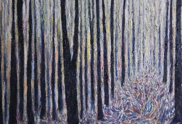 """Spirits of the Forest II Oil on canvas Kevin Weaver"""