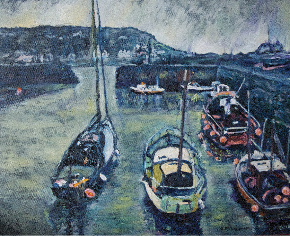 """Port Patrick Harbour Fishing Boats"""