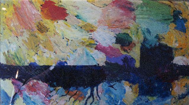 """Castle - oil on glass by Kevin Weaver."""